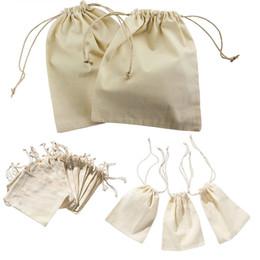 Wholesale Mini Sachets - Wholesale- Mini Drawstring Gift Bag Incense Storage Cosmetic Jewel Accessories Sachet Packing Linen Bags 10*15cm WN0239