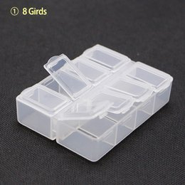 Wholesale Parts Organizer Box - Wholesale- Mini Size 8 Lattices 78x61x20mm Rectangle Subassembly Wrapper Plastic Component Storage Box Parts Organizer Tool box