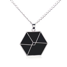 Wholesale Korean New Fashion For Boys - Wholesale-Sunshine korean stars fashion EXO pendants Cord Fan necklace for boy and girls love necklace femme new fashion XIUMIN Fans Gift