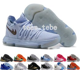 Wholesale Kd Low Men - New KD 10 X Men Basketball Shoes Homme White Tennis BHM Oreo Zoom Kevin Durant KD10 10s Kds Elite Floral Aunt Pearls Easter Sports Sneakers