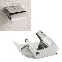 Wholesale Tissue Box Stainless - Wholesale- Zero Hot Selling Bathroom Accessories Stainless Steel Toliet Tissue Roll Paper Holder Box