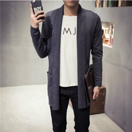 Wholesale Mens Gray Sweater - Mens Cashmere Sweater Plus Size Spring New Slim Fit Cardigan Men Long Simple Turn Down Collar Casual Sweater Men 5XL-M 5Colors