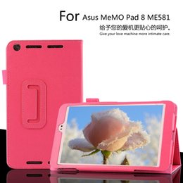 Wholesale 8inch Tablet Case Stand - Wholesale- High quality ! Pu Leather Stand Tablet Cover Case For Asus MeMO Pad 8 ME581C ME581CL ME581 8inch Tablet Cover