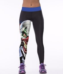 Wholesale Novelty Themes - Halloween theme super elastic high waist slim 3D digital print sportswear fitness leggings mujer Polyester women jeggings Leggin