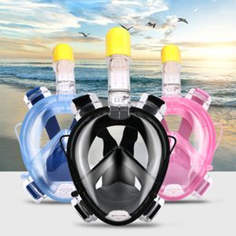 Wholesale Diving Mask New - 2017 New Underwater Scuba Anti Fog Full Face Diving Mask Snorkeling Set Respiratory masks Safe and Waterproof X012