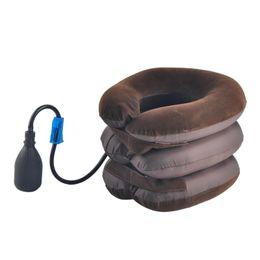Wholesale Cervical Air - New Air Bag Tractor Cervical Neck Vertebra Traction Soft Brace Device MassagerNeck Care Body Massager with OPP bag 0613012