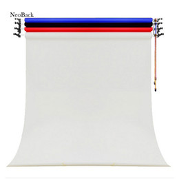 Wholesale Roller Stand - NeoBack Express shipping Photo Studio Background support stand 3 Roller Ceiling Mounting Only Manual Backdrop roller system RS03