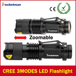 Wholesale High Lumen Powered Led Flashlights - 2017 LED Flashlight Lanterna Led High Power Torch 2000 Lumen Zoomable Mini Flashlight Tatica Light Lantern High-quality