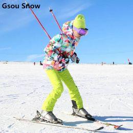 Wholesale Female Ski Suit - Wholesale- Gsou Snow winter ski jacket women snowboard jackets ladies ski snow suit female warm waterproof chaqueta esqui mujer