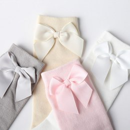 Wholesale Childrens Clothing Wholesale Quality - 2017 Childrens clothing new girls socks bowknot knee-high socks pure cotton princess stockings baby girls good quality socks B4792