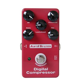 Wholesale Guitar Effect Compressor - 2017 factory outlet new arrival Aural Dream Digital Compressor Comp Compressing True Bypass Design guitar effects