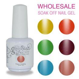 Wholesale Gelish Color Gel Nail Polish - 200PCS LOT high quality Soak off color Gelish led & uv gel nail polish Gelish gel glue nail art gel lacquer varnish for nail set