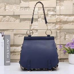 Wholesale Leopard Satchel Handbags - Bridle shoulder bag check Leopard bag women pu leather handbags famous brands crossbody bags luxury designer women bags designer