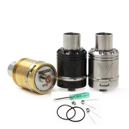 Wholesale Engraving Tips - Vaporizer Vaux RDA Atomizers Vicious Ant 24mm Two Pole Deck Peek insulator Engrave Vaux with PEI Drip tips fit e cig Vape 510 Mods DHL free