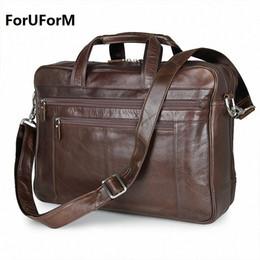 Wholesale Leather Laptop 17 - Wholesale- Genuine Leather Men Briefcase 17 inch Business Laptop Tote Bag Cowhide Men's Messenger Bags Lawyer Handbag Shoulder bag for Male