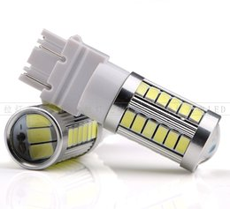 Wholesale 3157 Led Tail Light Bulb - Super bright CAR led bulb t25 3157 Turn Tail Brake Stop Signal light Lamp bulb 33SMD 5730 white