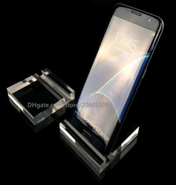 acrylic mobile phone displays Coupons - High quality Clear acrylic mobile cell phone display stand fashion phone Digital products holder jewelry watch   bracelet display rack