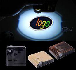 Wholesale Doors Dodge - 2PCS For Dodge Wireless Led Car door Logo emblem Laser Light LED Welcome Ghost Shadow Light