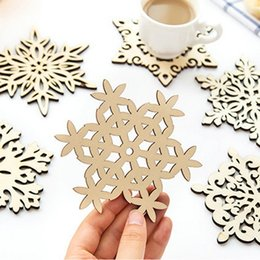 Wholesale Wooden Carved Table - Wholesale- Three Retro Hollow Style Wooden Carved Snowflower Coasters Cup Mat Table Mat Home Supplies