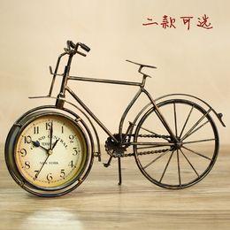 Wholesale Cuckoo Clock Antique - cuckoo Vintage iron classical quartz clock antique bicycle sales silent desktop clock modern design fashion home decoration frozen 28