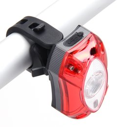 Wholesale Bycicle Lights - 3W LED USB Rechargeable Rear Back Bicycle Light Rain Waterproof LED Bycicle Light Safety Cycling Bike Tail Lamp Taillight 3 Mode