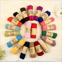 Wholesale Hijab Cotton Shawl - Women Cotton Linen Scarf Muslim Hijab Muffler Casual Long Plain Scarves Shawl Stole 21 candy colors for choose