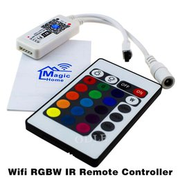 Wholesale magic dc - 16Million colors Wifi RGB  RGBW led controller smartphone control music and timer mode magic home wifi led controller