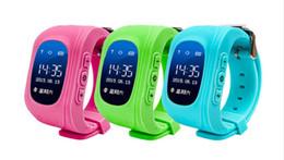 2019 rastreador de celular android Venda por atacado- Kids GPS Tracker Q50 relógio inteligente para crianças OLED Wearable LCD eletrônico com IOS Android SIM Card celular relógios rastreador de celular android barato