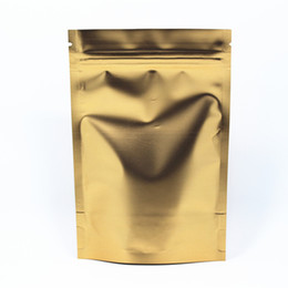 Wholesale Packing Nuts - 50Pcs  Lot Retail Golden 12*20cm Heat Seal Stand Up Aluminum Foil Packing Pouch For Nuts Coffee Storage Doypack Ziplock Pack Bag