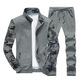 Wholesale Mens Korean Style Hoodies - Men's Wear 2017 Spring Autumn Korean Style Hoodies Sweatshirts Sporting Suit Men'S Fashion Tracksuits Mens Tracksuits Jacket+Pants Set 2pcs