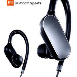 Wholesale Smartphone Mi - Original Xiaomi Mi Sports Bluetooth Headset Bluetooth 4.1 Music Earbuds Mic IPX4 Waterproof Wireless Earphones for smartphone Samsung iphone