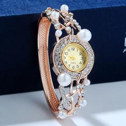 reloj de pulsera corea Rebajas Lan Ting decorado pulsera de pulsera de Japón y Corea del Sur hermosa pulsera de diamantes de imitación relojes de moda reloj de pulsera a