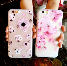 Wholesale Plus Protect - Fashion Flower Patterned Defender Case Soft Silicone Floral Protect Shockproof Cases Cover For iPhone X 8 7 6 6s Plus Phone Case