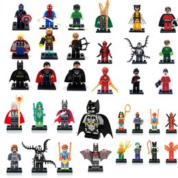 Wholesale Toy Kids Block - Building Blocks Super Hero Toys The Avengers Toys Hulk Hobbies Toys Mini Action Figures Bricks Christmas gifts for kids