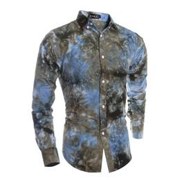 Wholesale Art Prints Beach - Wholesale- 2016 New Men's Casual Dress Shirts High Quality 3D Color Digital Print Art Shirt Vestidos Man Beach Camisa Social Masculina