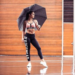 Wholesale Very Sexy Hot Women - Hot Sale 2017 Women Work out Sport Leggings Solid color English letter print Fitness Sexy Modal Free Shipping High Very good quality fashion
