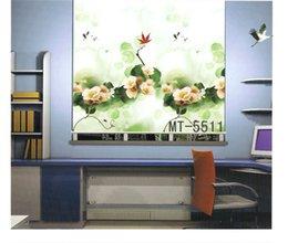Wholesale Modern Window Blinds - Wholesale-Flower printed digital printed modern design blackout roller blind MT-5511