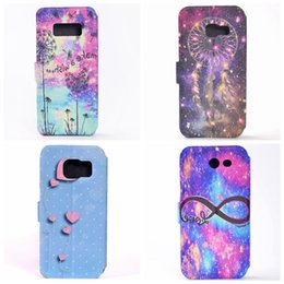 Wholesale Eiffer Tower - For Galaxy S8 Plus S7 Edge J720 J520 J320 A520 A320 Wallet Leather Slot Holder Stand Lover Dreamcatcher Flip Cover Case Eiffer Tower TPU