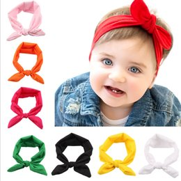 Wholesale Childrens Fabric Flower Headbands - 10 colors Hot sale Headbands for kids boys&girls Hair Bows Bohemia Ear elastic cotton headwear flower headbands childrens hair accessories
