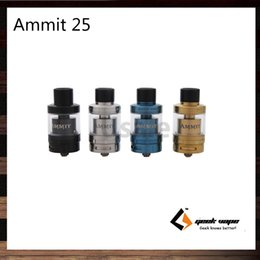 Wholesale Tanks 25 - GeekVape Ammit 25 RTA Enhanced 3D Airflow System Sngle Coil Build Deck and Extendable Tank Capacity 2ml & 5ml Atomizer 100% Original