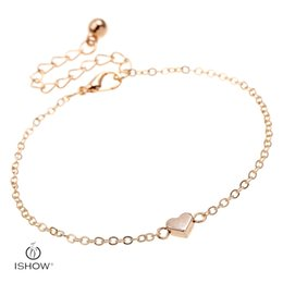Wholesale Model Heart - Fashion & Infinity heart charm anklets design for women gold plated anklets model feet HYBX3124