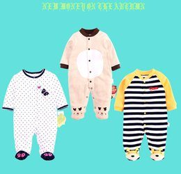 Wholesale Wholesale Kids Soccer Socks - 4styles Baby Romper With Socks Pure Cotton Soccer Sports Infant Children Clothes Long sleeves Rompers Jumpsuit kids