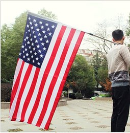 Wholesale Party Supply Usa - 90*150cm 3*5ft USA American Flag National US FT Polyester Be Proud Show Off Your Patriotism Wholesale Festive Party Supply Decoration