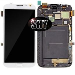 Wholesale Screen Lcd Galaxy Note2 - 100% original LCD Display Touch Screen Digitizer Assembly with Frame For Samsung Galaxy Note2 N7105 N7100 i317 t889