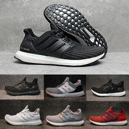 Wholesale Popular Shoes For Men - Very popular 2018 purecontrol Ultra Boost 4.0 Running Shoes for Men Women Triple white black grey wine shoes Athletic Shoes size 36-45