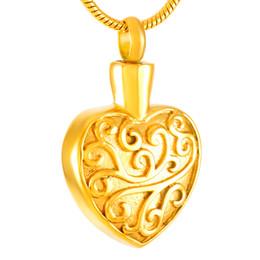 Coeur Cendres Souvenir Urne Pendentif Collier Fleur Gravé En Acier Inoxydable Collier De Crémation Mémoire Bijoux Funéraires ? partir de fabricateur