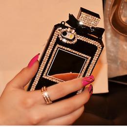 Profumo tpu online-Caso di lusso della bottiglia del profumo della bottiglia di TPU Bling Diamond Cover per iPhone 7 8 6 6s più X Xs Max Xr 5S SE