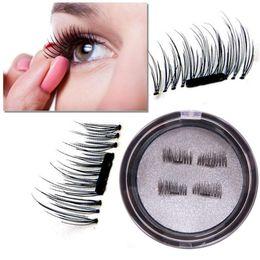 Wholesale Eyelash Extensions Eye Makeup - Magnetic Eye Lashes 3D Mink Reusable False Magnet Eyelashes Extension 3d eyelash extensions magnetic eyelashes makeup X062
