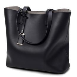 Wholesale Women Handbags Usa - 2017 USA EU Fashion Women Handbag PU Oil Wax Leather Women Bag Large Capacity Tote Bag Big Ladies Shoulder Bags