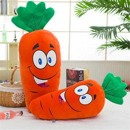 Wholesale Cushions Ideas - Cute Laugh Carrot Plush Toys Stuffed Soft Cloth Doll Baby Pillow Cushion Idea Gift for Girl Kids